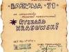 Dyplom dla Ryszarda Krasowskiego za wykonanie piosenki turystycznej